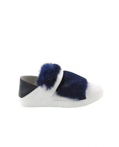 OZ3030魔术贴兔毛羊皮休闲鞋