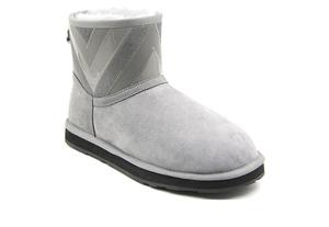 OZ0007漆皮拼接荔枝皮低筒雪地靴