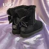 OZ0004-7防泼水 蝴蝶结雪地靴