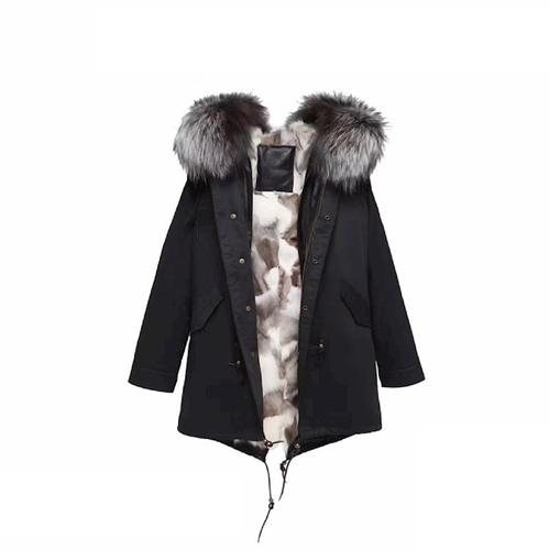 【OZ6010】OZLANA AU顶级芬兰银灰色狐狸毛外套大衣